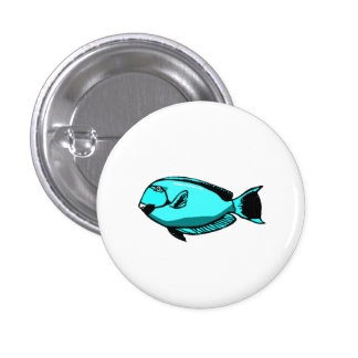 Blue Tang Fish Button