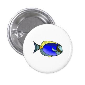 Blue Tang Fish Pinback Button
