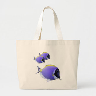 Blue Tang Fish on Sparkling Water Bags