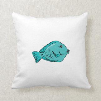 Blue Tang Fish Pillows