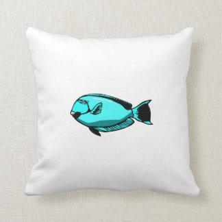 Blue Tang Fish Throw Pillows