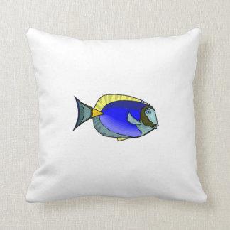 Blue Tang Fish Throw Pillow