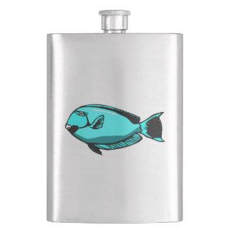 Blue Tang Fish Hip Flask