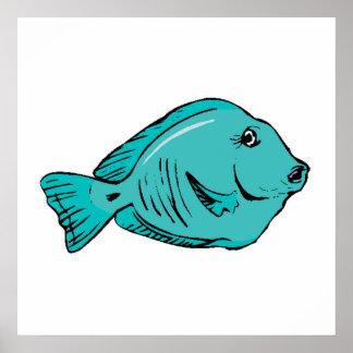 Blue Tang Fish Posters