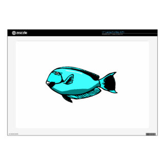 """Blue Tang Fish Skin For 17"""" Laptop"""