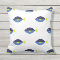 Blue Tang Outdoor Pillow