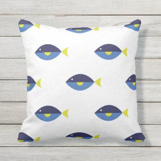 Blue Tang Outdoor Pillow