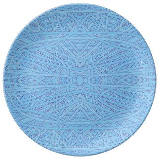 Blue Tangle Porcelain Plates