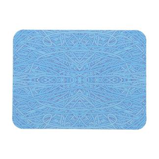Blue Tangle Rectangular Photo Magnet