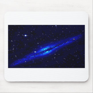 Blue-tangled Galaxy Mouse Pad
