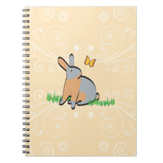 BLUE TANS IN THE GRASS SPIRAL NOTEBOOKS