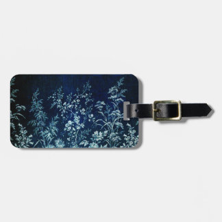 Blue Tapestry Design with Flowers Tags For Luggage