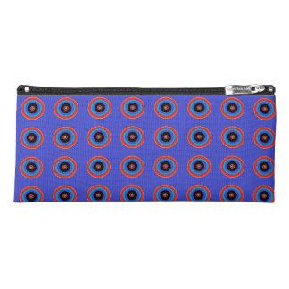 blue target circles pencil case