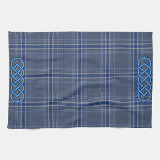 Blue Tartan Celtic Towel