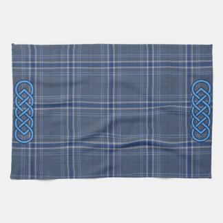 Blue Tartan Celtic Towel