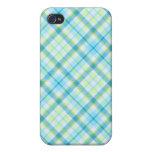 Blue Tartan Goodness iPhone 4/4S Covers
