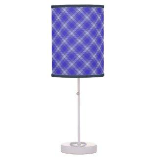 Blue Tartan Lamp