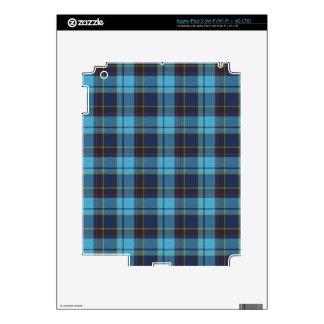Blue tartan plaid iPad 3 skin