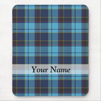 Blue tartan plaid mouse pad