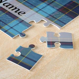 Blue tartan plaid puzzles