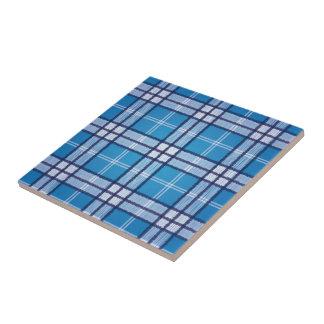 Blue Tartan Tile