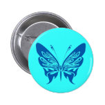 BLUE TATTOO BUTTERFLY GRAPHIC LOGO PINS