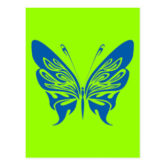 BLUE TATTOO BUTTERFLY GRAPHIC LOGO POSTCARD