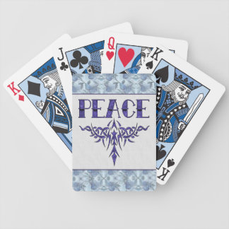 Blue Tattoo Peace Art Bicycle Playing Cards