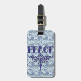 Blue Tattoo Peace Art Tag For Bags