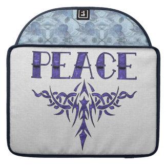 Blue Tattoo Peace Art MacBook Pro Sleeves