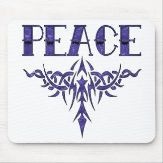 Blue Tattoo Peace Art Mouse Pad