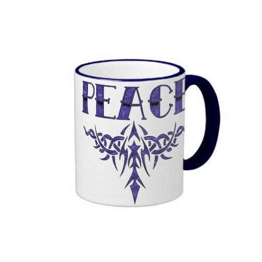 Blue Tattoo Peace Art Coffee Mug