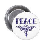 Blue Tattoo Peace Art Pin