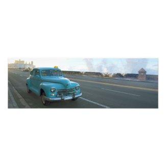 Blue Taxi Havana Photo Print