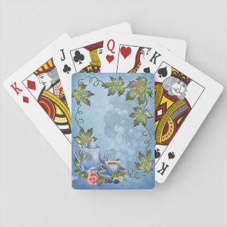 Blue Tea Party Playing Cards