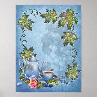 Blue Tea Party Poster