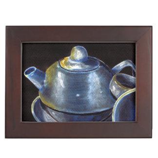 Blue Tea Set Keepsake Box (Lori Corbett)