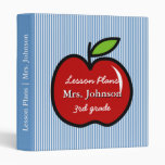 Blue teacher school binder | lesson plan book