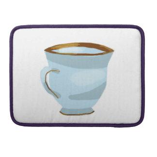 "Blue Teacup 13"" Macbook Pro Sleeve"