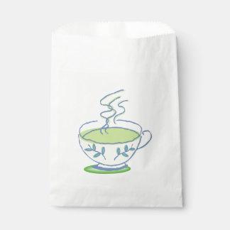 Blue Teacup Favor Bag