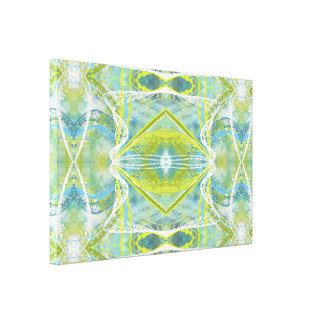 Blue, Teal and Green Abstract Wall Art II