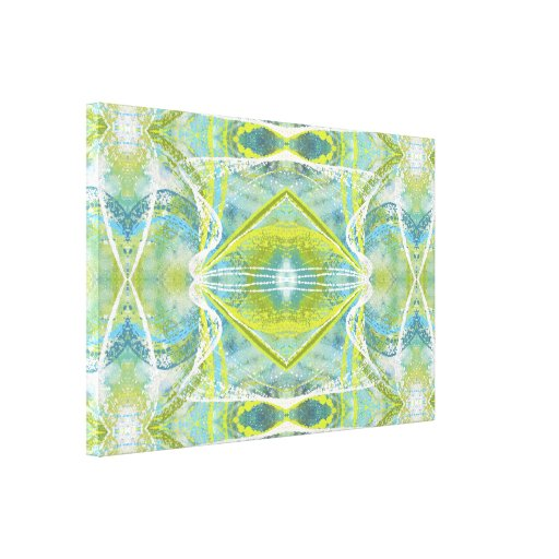 blue teal and green abstract wall art ii zazzle. Black Bedroom Furniture Sets. Home Design Ideas