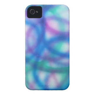 Blue, Teal and Purple Pattern. Case-Mate iPhone 4 Case