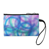 Blue, Teal and Purple Pattern. Change Purse