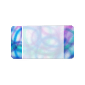 Blue, Teal and Purple Pattern. Label