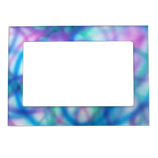 Blue, Teal and Purple Pattern. Magnetic Frame