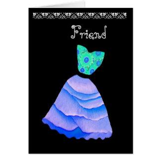 Blue & Teal Be My Bridesmaid Wedding Invitation Greeting Card