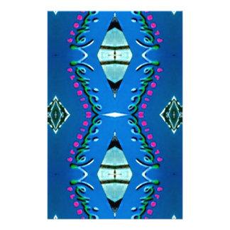 Blue Teal Magenta 'Venice' Tribal Pattern Stationery