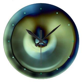 Blue Teal Modern Abstract Design Wall Clock