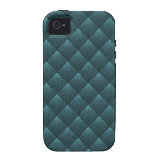 Blue Teal Quilted. Elegant Fashion Fabric Pattern Vibe iPhone 4 Covers